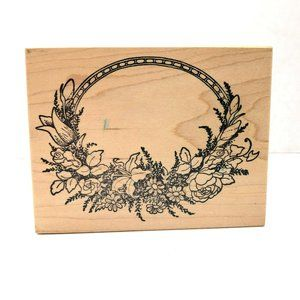 Floral Crafting Rubber Stamp
